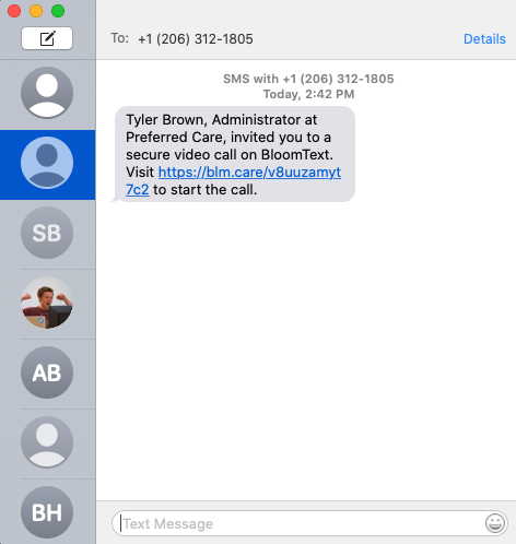 BloomText Video invitation